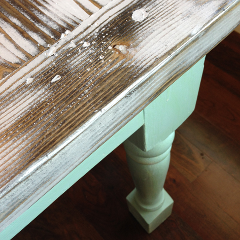Modern Beachy Farmhouse Table Makeover DIY  Pocketful Of Paint Blog