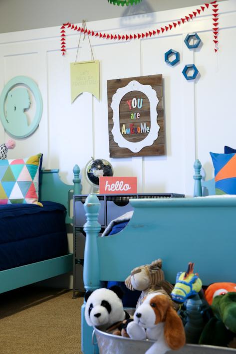 Shared Boy Girl Room Reveal
