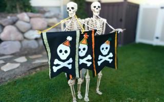 Felt Skull Banner