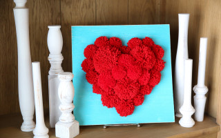 PomPom Heart Craft