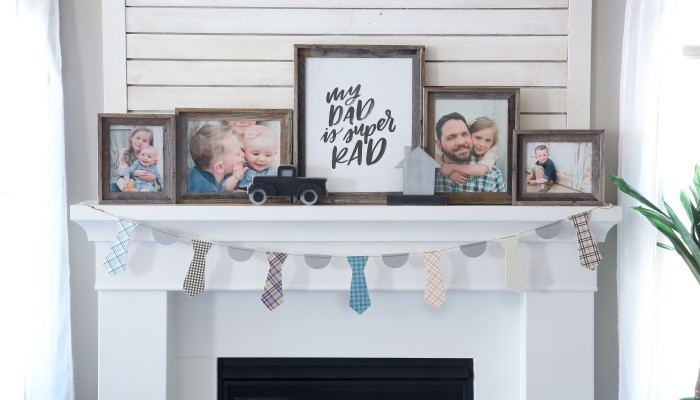 Father's Day Wood Tie Banner