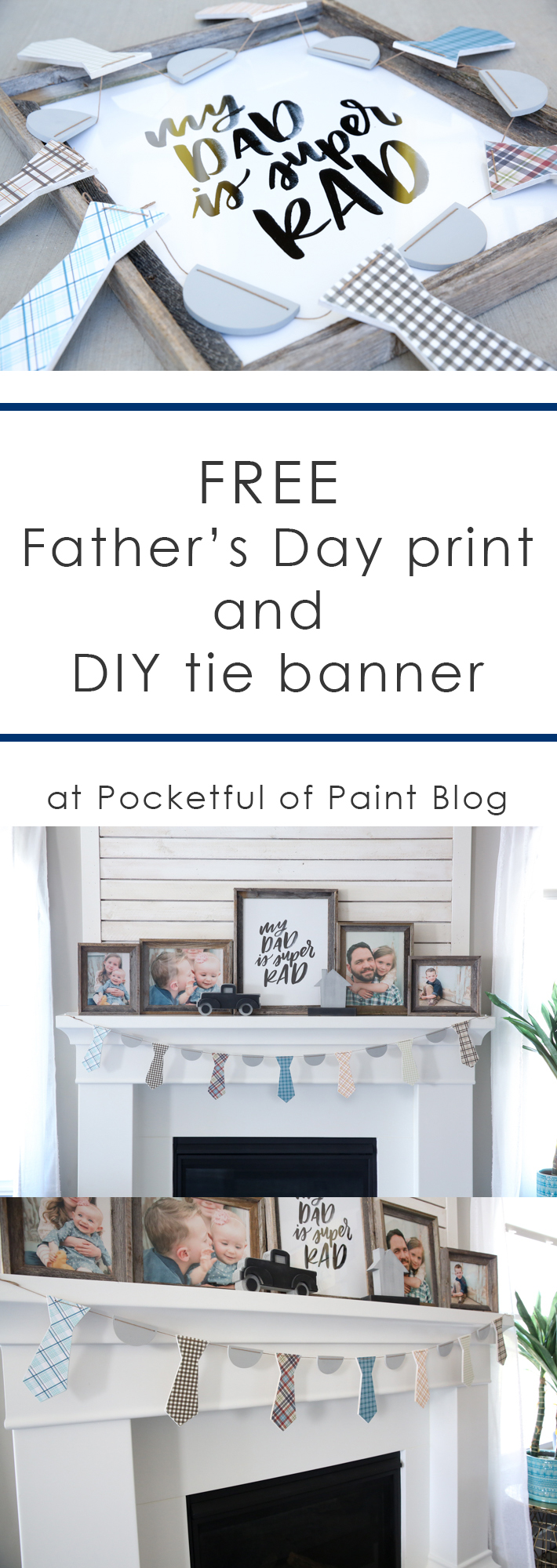 Father's Day Printable @pocketfulofpaint
