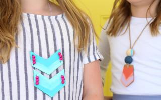 Cardboard Necklaces