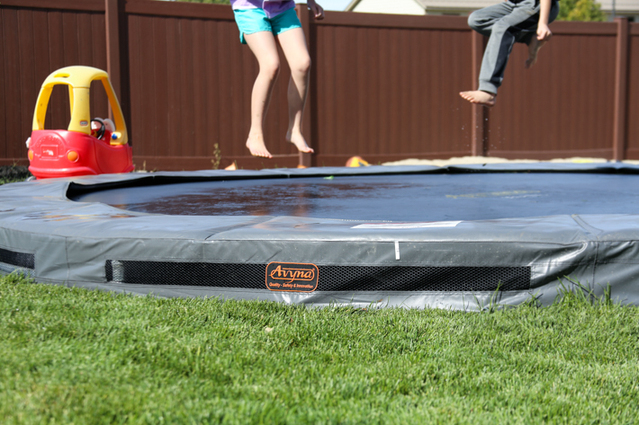 Backyard makeover and avyna trampolines review - Above ground swimming pools tyler texas ...