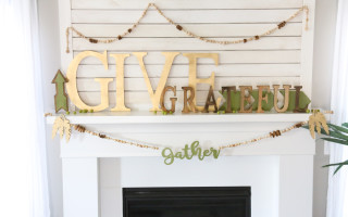 Give Gather Grateful Mantle Decor