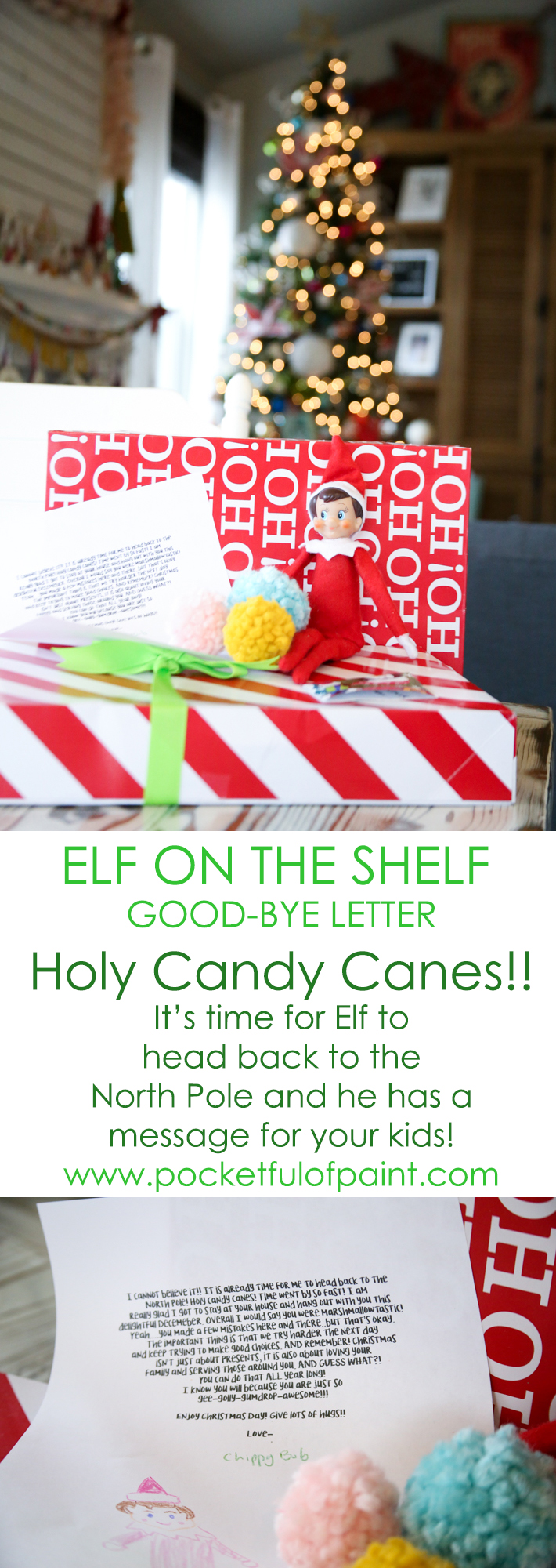 Goodbye Letter From Elf On The Shelf