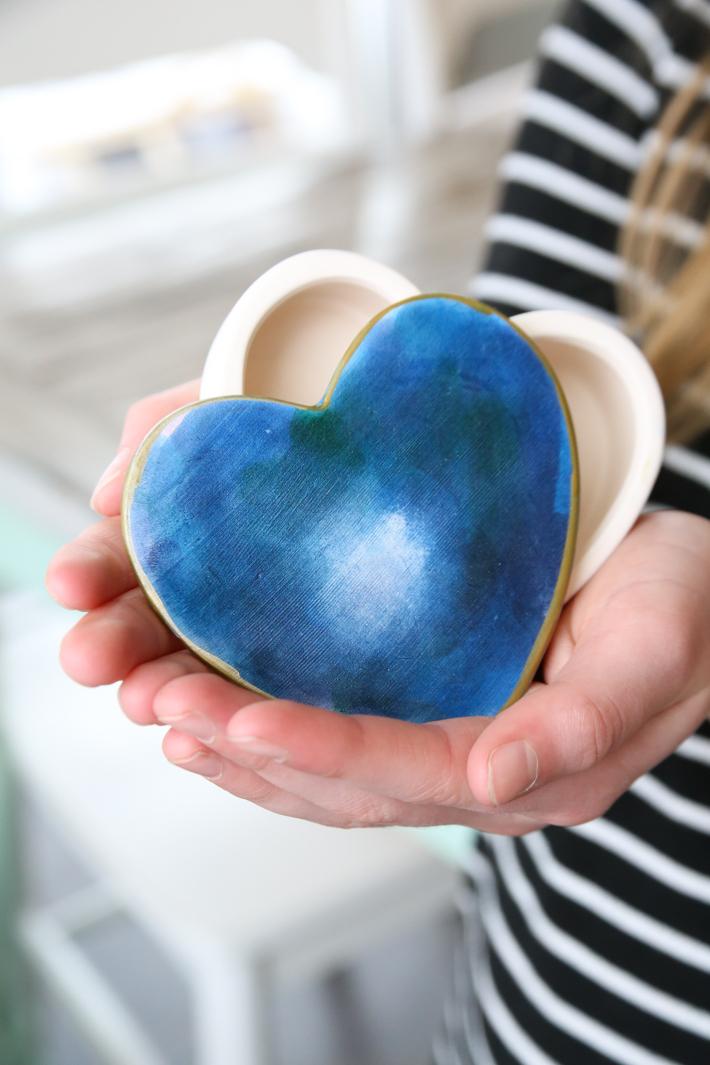 Ceramic Heart Box Craft