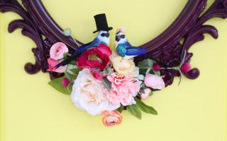 Love Birds Frame Wreath