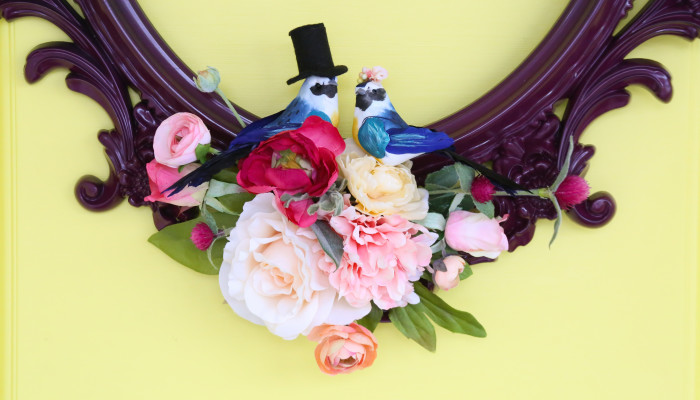 Love Birds Frame Wreath