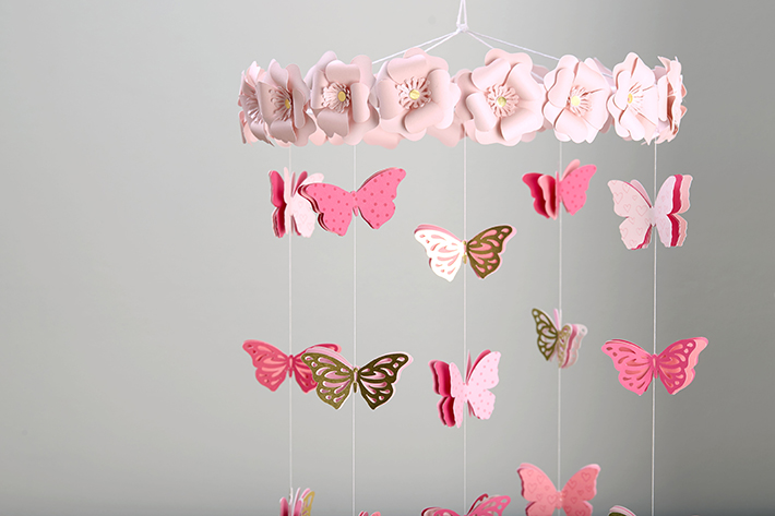 DIY Butterfly Mobile with Close to my Heart and @PocketfulofPaint